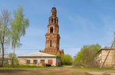 Yuriev-Polsky. Bell tower of the former monastery of St. Peter a — Stock Photo