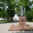 Monument to Andrei Rublev in the park's Saviour-Moscow — Stock Photo