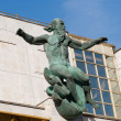 Sculpture on the building of the Presidium of the Russian Academy of Sciences — Stock Photo #27763825