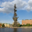 The monument to Czar Peter the Great in Moscow, landmark — Stock Photo