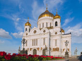 Russian Orthodox Cathedral - The Temple Of Christ The Savior in — Стоковое фото