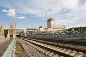 Novoandreevsky bridge. Andrew railway bridge - Small Ring of Mos — Stock Photo