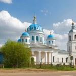 Pereslavskiy area. The new village. Church of Holy Spirit Church — Stock Photo
