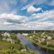 City Torzhok, Tver region. View of city and river Tvertsfr — Stock Photo #32658711