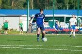 девушка футбол игрок — Стоковое фото