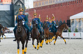 The Honor Cavalry Escort of the President — Stock Photo
