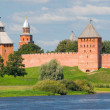 Stock Photo: Towers of Novgorod Kremlin in Veliky Novgorod, Russia