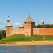 Towers of Novgorod Kremlin in Veliky Novgorod, Russia — Stock Photo