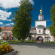 Gate Church of the Archangel Michael. Iversky monastery in Valda — Stock Photo