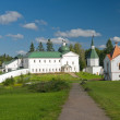 Постер, плакат: The Church of the Holy Righteous JAMES Borovichskye and hospital