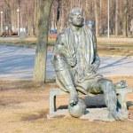 Monument to Nikolai Starostin in Luzhniki — Stock Photo