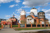 Construction of the Church of Saints Cathedral — Stock Photo