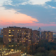 Spring evening cityscape high angle. Moscow — Stock Photo #45558057