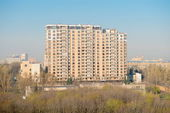 Spring day cityscape high angle. Moscow — Stockfoto