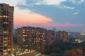 Spring evening cityscape high angle. Moscow — Stock Photo