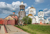 Closing Construction of the Church of Saints Cathedral in Moscow — Stock Photo