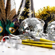 Mask and party hats for New Years Eve — Stock Photo #16161589