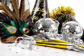 Mask and party hats for New Years Eve — Stock Photo