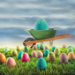 Royalty-Free Stock Photo: Easter eggs in grass