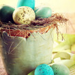 Speckled eggs with vintage feeling — Stock Photo