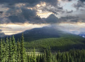 Beautiful view of the Rocky Mountains in Alberta — Stock Photo