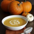 Festive homemade pumpkin soup — Stock Photo