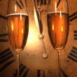 Champagne glasses ready to bring in the New Year — Stock Photo #3278245