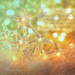 Star holiday lights with sparkle background — Foto Stock