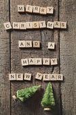Letters spelling Christmas greetings — Stockfoto