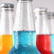 Closeup of summer drinks with ice — Stock Photo
