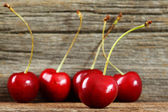 Cherries in a row — Stock Photo