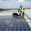 Engineer testing solar panels — Stock Photo #42616227