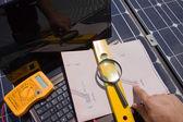 测试太阳能光伏板 — 图库照片