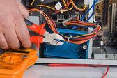 Repairing computer CPU — Stock Photo