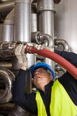Pipeline craftsman — Stock Photo