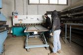 Men working with steel — Stock Photo