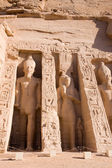 Ancient ruins and statues of Abu simbel — Stock Photo