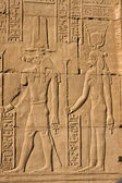Antique pictures with hieroglyphics in Kom ombo — Stock Photo