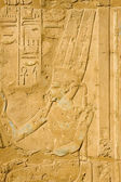 Antique pictures with hieroglyphics in Luxor — Stock Photo