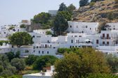 Adamas Plaka typical Greek island Cyclades architecture Milos Greece on Mediterranean Aegean Sea — Stock Photo