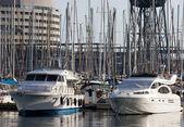 Båtar i hamn — Stockfoto