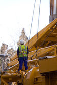 Builder at the construction — Foto de Stock