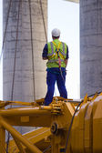 Builder at the construction — Stock Photo