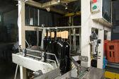 Bottles on factory — 图库照片