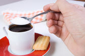Coffee cup and sugar — Stock Photo