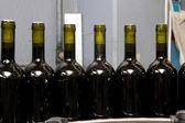 Bottles on factory — Stock Photo