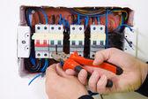 Electricista — Foto de Stock