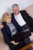 пожилая пара — Стоковое фото