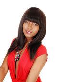 Retrato de muchacha negra. — Foto de Stock