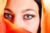 Closeup of eyes of girl. — Stock Photo